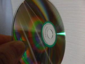 CDの表面の光